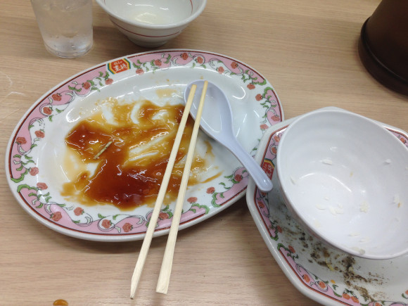 食べ終わった